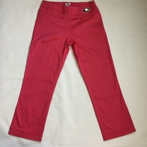 CACHE Capri Pants Pink Size 4 Made in USA EUC